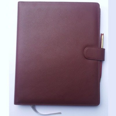 CHELSEA LEATHER DESK DARY OR NOTE BOOK WALLET with Magnetic Clasp