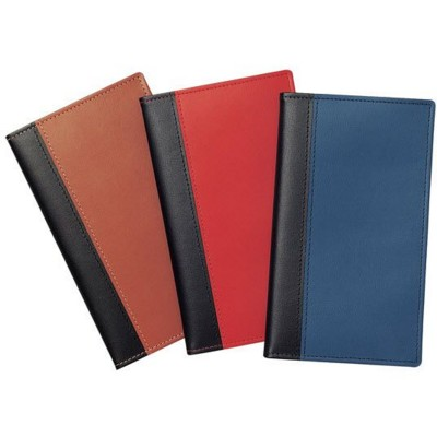 NEWHIDE BI-COLOUR POCKET WALLET with Comb Bound Diary Insert