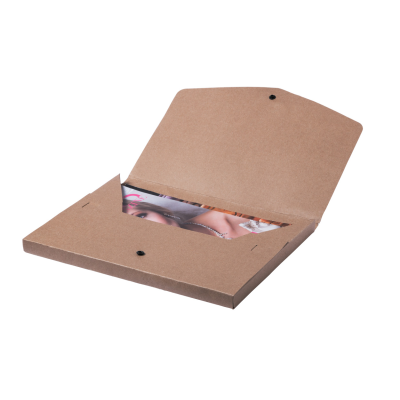 RECYCLED PAPER DOCUMENT FOLDER with Press-stud