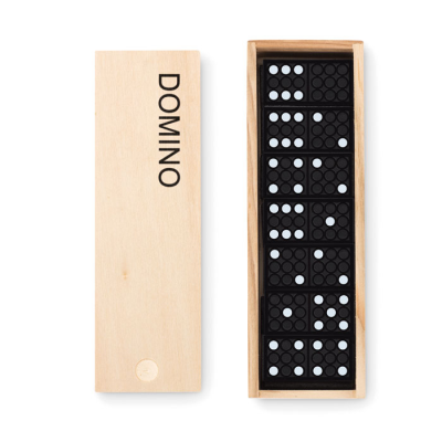 28 PIECES DOMINO SET in Wood Box