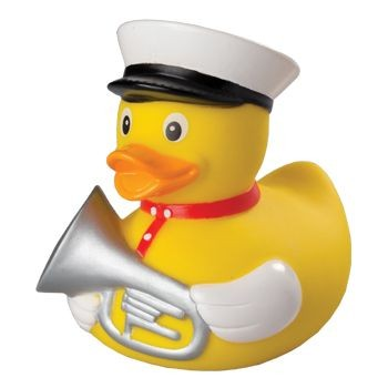 TRUMPETER SQUEAKING RUBBER DUCK