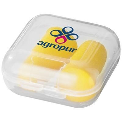 SERENITY EARPLUGS with Travel Case in Yellow