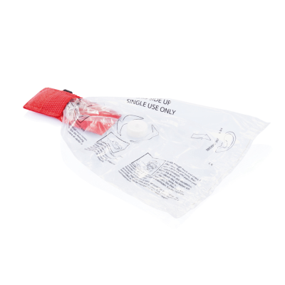 KEYRING CHAIN CPR MASK in Red