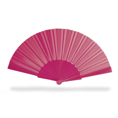 CONCERTINA HAND FAN in Fuchsia Pink