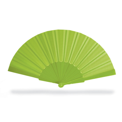 CONCERTINA HAND FAN in Lime Green