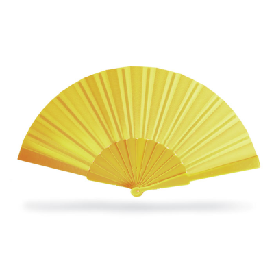 CONCERTINA HAND FAN in Yellow