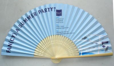 PAPER AND BAMBOO FOLDING HAND FAN