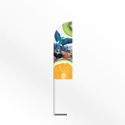 LARGE FEATHER FLAG BANNER with Car Base