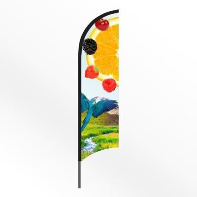 LARGE FEATHER FLAG BANNER with Spiked Base
