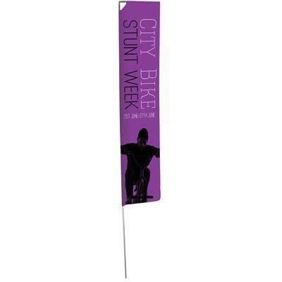 LIGHT EDGE FLAG with Single Sided Graphic - Parasol Base