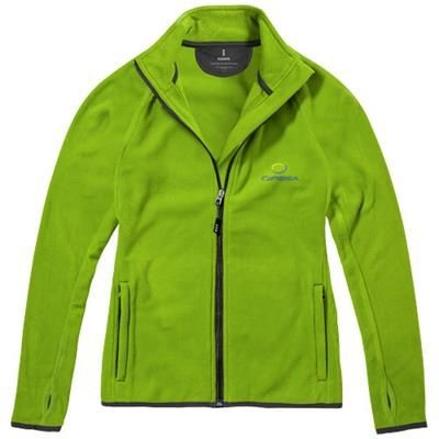 BROSSARD MICRO FLEECE FULL ZIP LADIES JACKET in Apple Green