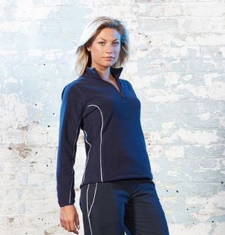 TOMBO TEAMWEAR LADIES ZIP NECK MICRO FLEECE