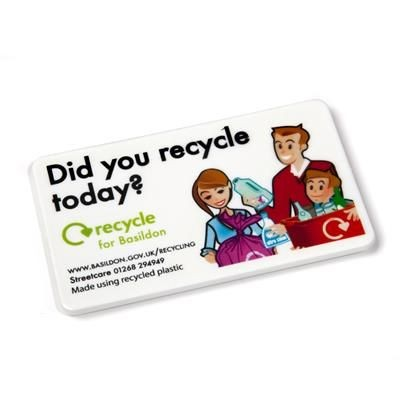 RECYCLED 85 X 50MM FRIDGE MAGNET