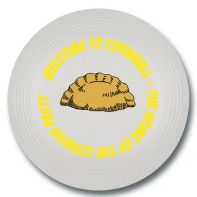 SMALL RECYCLED PLASTIC FRISBEE in White