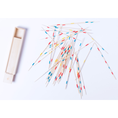 WODDEN MIKADO GAME in Wood Box