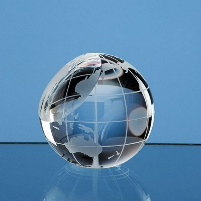 60MM OPTICAL CRYSTAL GLASS GLOBE PAPERWEIGHT