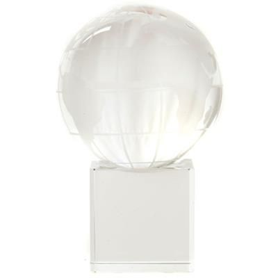 CRYSTAL 50MM GLOBE ON CLEAR TRANSPARENT BASE