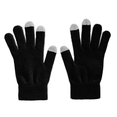 TACTILE GLOVES FOR SMARTPHONES in Black
