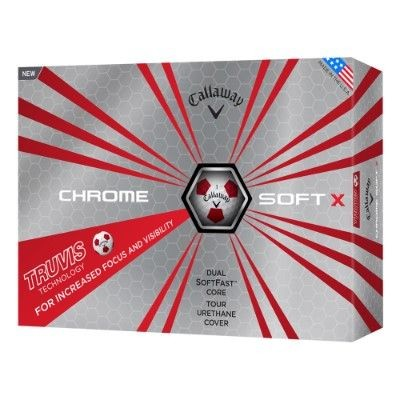 CALLAWAY SILVER CHROME SOFT X TRUVIS GOLF BALL