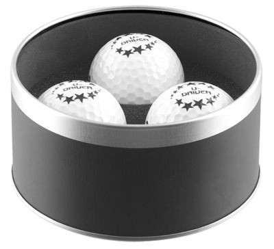 WEXFORD GOLF BALL TIN in Black