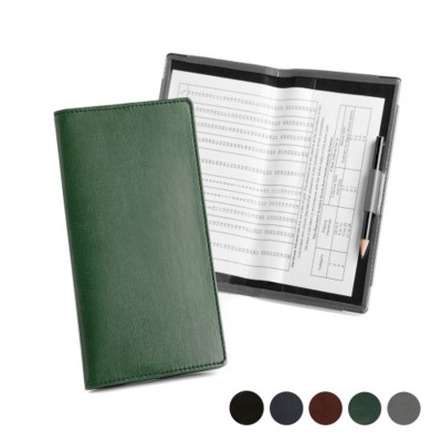 GOLF SCORECARD HOLDER with Handicap Card in Hampton Finecell Leather