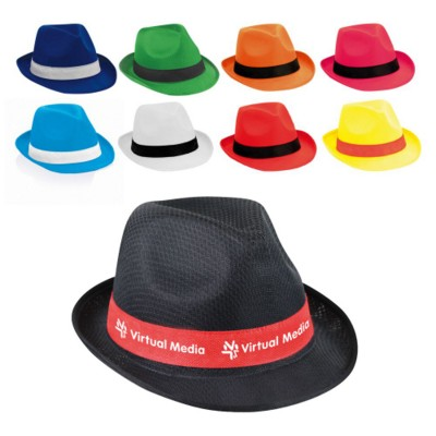 BRAZ FEDORA STYLE HAT with Stitched Colour Band
