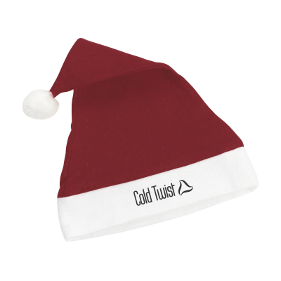 POLYESTER FATHER CHRISTMAS SANTA HAT in Red