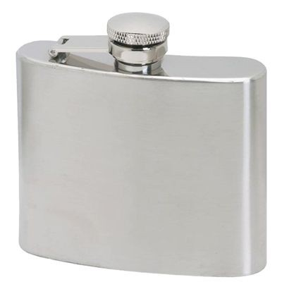 5OZ SILVER STAINLESS STEEL METAL HIP FLASK