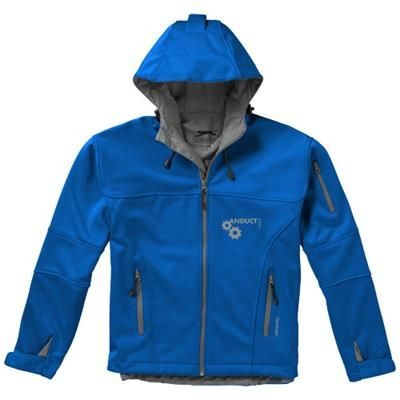 MATCH SOFTSHELL JACKET in Light Blue