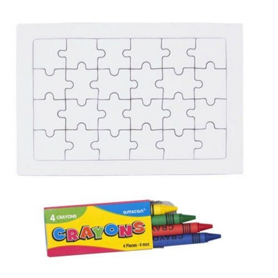 ZETA COLOURING JIGSAW with Four Wax Crayons