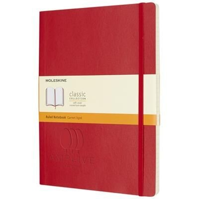 CLASSIC XL SOFT COVER NOTE BOOK - RULED in Scarlet Red