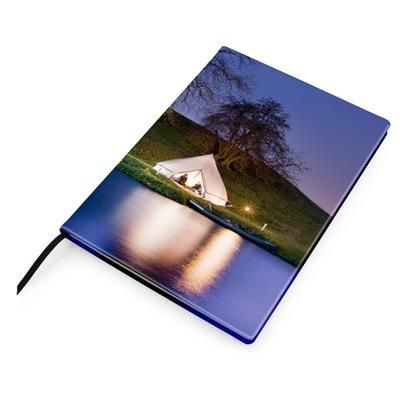 A4 CASEBOUND NOTE BOOK COVER in Leather Look PU