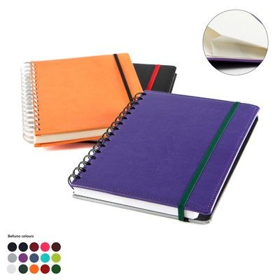 A5 WIRO NOTE BOOK with Elastic Strap in Belluno PU Leather