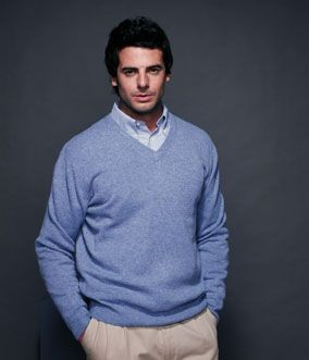 HENBURY LAMBSWOOL V NECK JUMPER