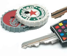 BOTTLE TOP PROMOTIONAL KEY CAP