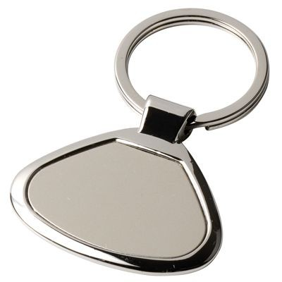 METAL KEYRING in Silver with Matt Plate