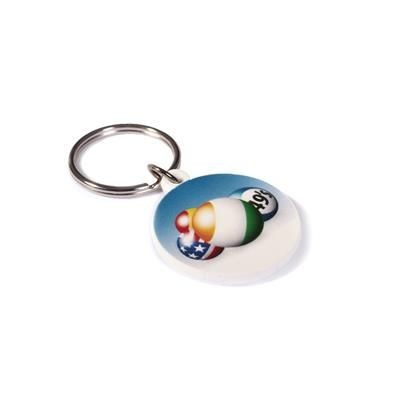RECYCLED 30mm Circular Keyring