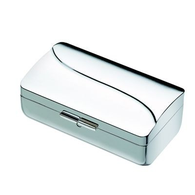 WAVE METAL LIPSTICK HOLDER CASE in Silver