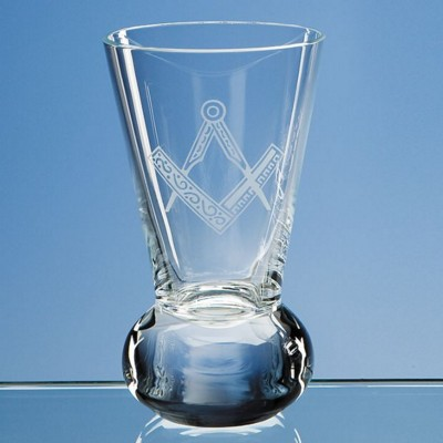 11CM LEAD CRYSTAL FIRING GLASS LOVING CUP