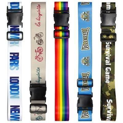 PRINTED LUGGAGE BELT STRAP