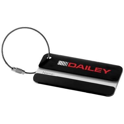 DISCOVERY LUGGAGE TAG in Black Solid