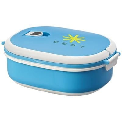 SPIGA LUNCH BOX in Blue-white Solid