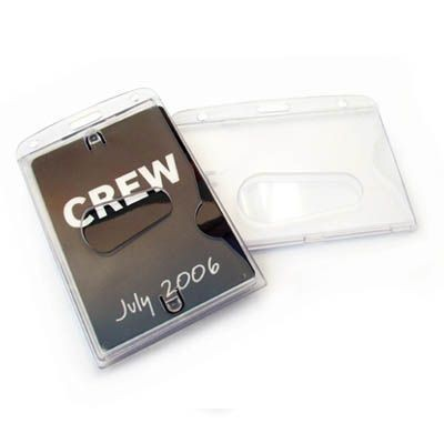 CLOSED FACE RIGID CARD HOLDER in Translucent Clear Transparent