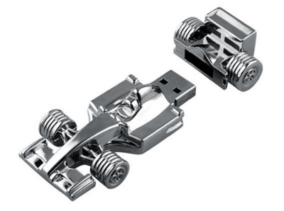 BABY F1 RACING CAR USB FLASH DRIVE MEMORY STICK in Silver