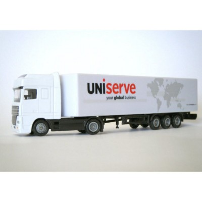 ARTICULATED TRUCK AND STANDARD TRAILER MODEL in White