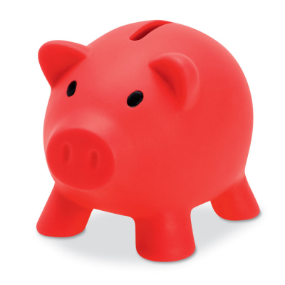 PIGGY BANK in Red