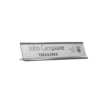METAL DESK NAMEPLATE HOLDER