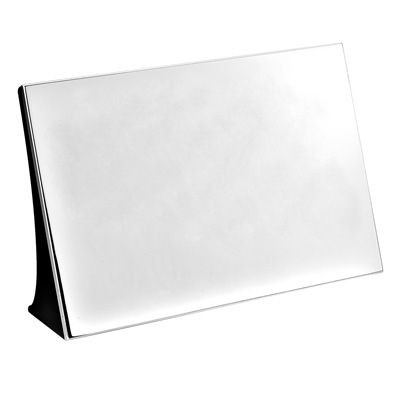 METAL DESK PLAQUE NAMEPLATE in Silver
