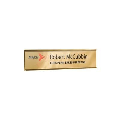 METAL WALL OR DOOR NAMEPLATE HOLDER