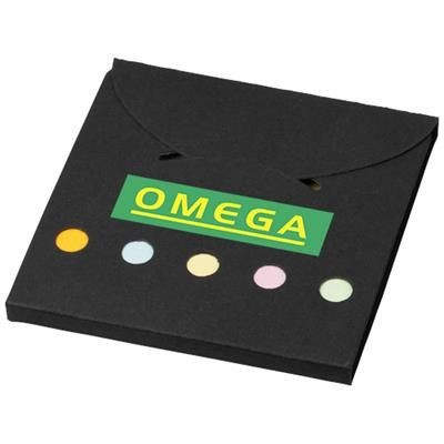 DELUXE COLOUR STICKY NOTES SET in Black Solid